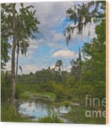 Lowcountry Marsh Wood Print