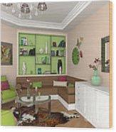 My Art In The Interior Decoration - Elena Yakubovich Wood Print