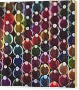 Rows Of Multicolored Crayons  Wood Print