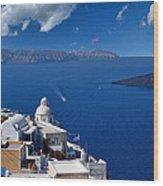 Santorini - Greece Wood Print