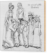 Scene From Pride And Prejudice By Jane Austen Wood Print