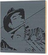 The Jazz Flutist Wood Print