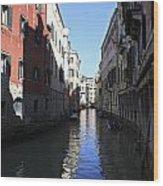 Narrow Canal Venice Italy Wood Print