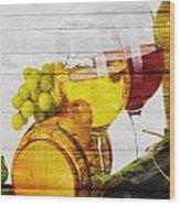 Wine Wood Print