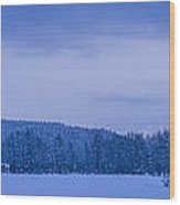 140303a-43 The Bull River Valley In Winter Wood Print