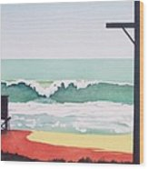 14th Street Huntington Beach Wood Print