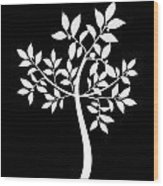 Art Tree Silhouette Wood Print