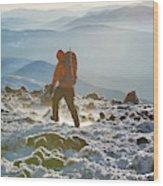 A Summit Intern Hikes The Northwest Wood Print