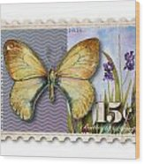 15 Cent Butterfly Stamp Wood Print