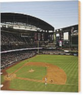 Colorado Rockies V Arizona Diamondbacks Wood Print