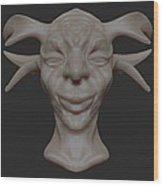 Face Wood Print