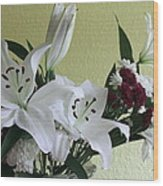 Fresh Cut Flowers Wood Print