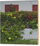 15- Garden Walk Wood Print