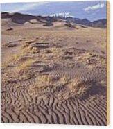 Great Sand Dunes Wood Print