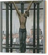 15. Jesus Dies / From The Passion Of Christ - A Gay Vision Wood Print