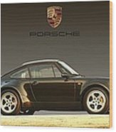 Porsche 911 3.2 Carrera 964 Turbo Wood Print