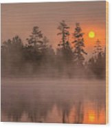 Usa, New York, Adirondack Mountains Wood Print