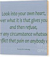 156- Karen Armstrong Wood Print