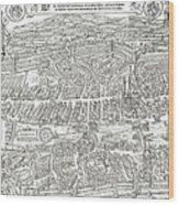 1576 Zurich Switzerland Map Wood Print