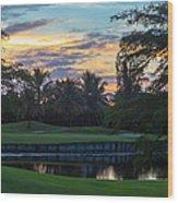 15th Green At Hollybrook Wood Print