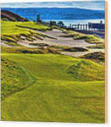 #16 At Chambers Bay Golf Course - Location Of The 2015 U.s. Open Championship Wood Print by David Patterson
