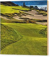 #16 At Chambers Bay Golf Course - Location Of The 2015 U.s. Open Tournament Wood Print
