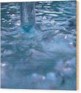 Australia - Deep Blue White Water Colour Wood Print