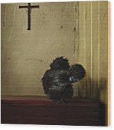 16. Black Silkie Wood Print