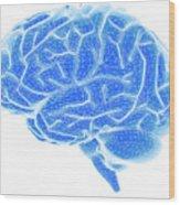 Brain Wood Print