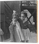 Chicago Children, 1941 Wood Print