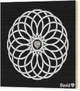 16 Circles Wood Print