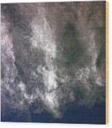 Cloaked Craft Cloud Photograph  Wood Print