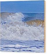 Hurricane Storm Waves Wood Print