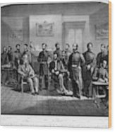 Lee's Surrender, 1865 Wood Print