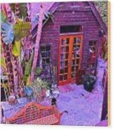 Malibu Cottage Wood Print