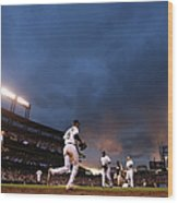 New York Mets V Colorado Rockies Wood Print