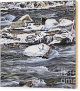 Winter Along Williams River Wood Print