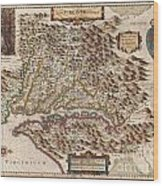 1630 Hondius Map Of Virginia And The Chesapeake Wood Print by Paul Fearn