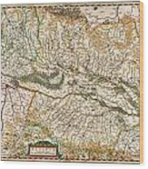 1644 Jansson Map Of Alsace Basel And Strasbourg Geographicus Alsatiasuperior Jansson 1644 Wood Print