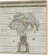 1650 Jansson Map Of The Ancient World Wood Print