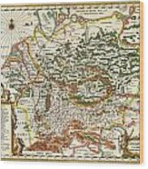 1657 Jansson Map Of Germany Germania Geographicus Germaniae Jansson 1657 Wood Print
