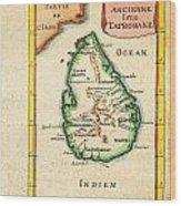 1686 Mallet Map Of Ceylon Or Sri Lanka Taprobane Geographicus Taprobane Mallet 1686 Wood Print