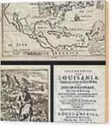 1688 Hennepin First Book And Map Of North America First Printed Map To Name Louisiana Geographicus N Wood Print