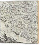 1690 Coronelli Map Of Montenegro Wood Print