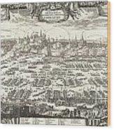 1697 Pufendorf View Of Krakow Cracow Poland Wood Print