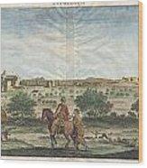 1698 De Bruijin View Of Bethlehem Palestine Israel Holy Land Geographicus Bethlehem Bruijn 1698 Wood Print