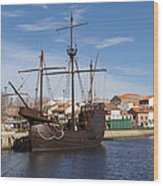 16th Century Ship Wood Print