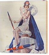1920s France La Vie Parisienne Magazine Wood Print