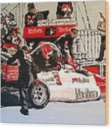 Automobile Racing Wood Print