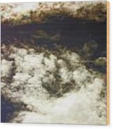 Cloaked Craft Cloud Photograph  Wood Print